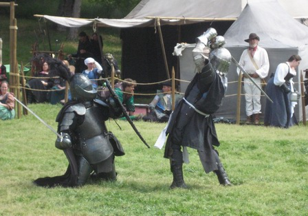 Knight's Duel in the Mock Battle 1