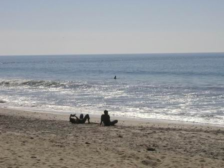 South Carlsbad State Beach, I hang out here quite often and read